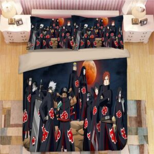 Naruto Shippuden Shinobi Akatsuki Team Uniform Bedding Set