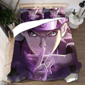 Naruto's Famous Kage Bunshin Technique Purple Bedding Set