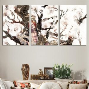 One Piece Red-Haired Awesome Watercolor Painting 3pcs Canvas