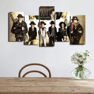 One Piece Straw Hat Pirates Crew Formal Outfit 5pcs Wall Art