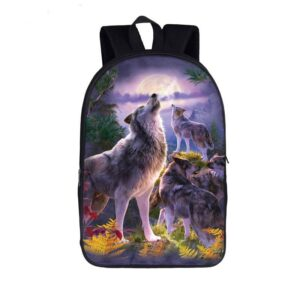Ravishing Wolves Gathered Pack Howl in the Wild Backpack