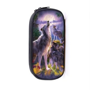 Ravishing Wolves Gathered Pack Howl in the Wild Pencil Case