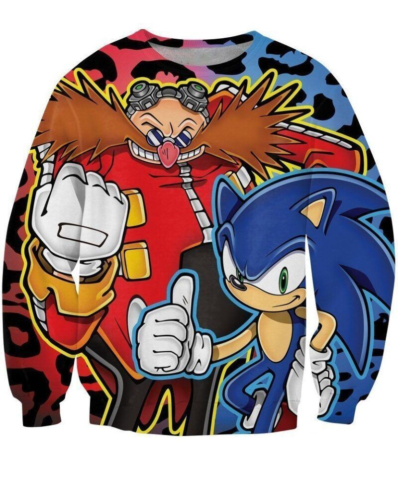 Sonic the Hedgehog Dr Robotnik Sega Game Colorful Design Sweatshirt - Woof Apparel