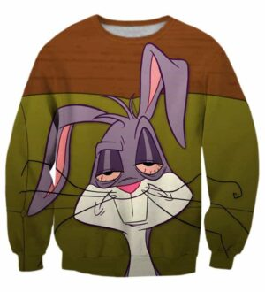 Stoned Fucked Up Dilated Eyes Rabbit Comic Hip Hop Style Sweatshirt - Woof Apparel