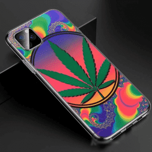 Psychedelic Cannabis Multicolor iPhone 11 (Pro & Pro Max) Case