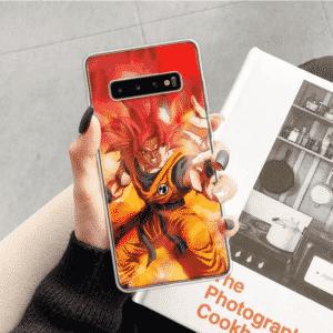 Super Saiyan 4 Red In Flames Samsung Galaxy S10 Case