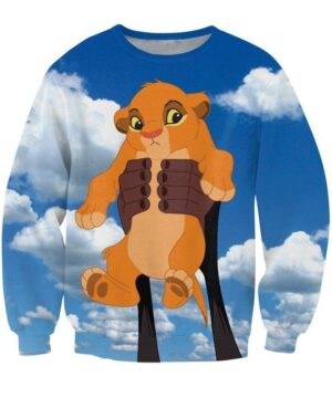 The Lion King Baby Simba Lovely Cartoon Famous Trendy Sweatshirt - Woof Apparel