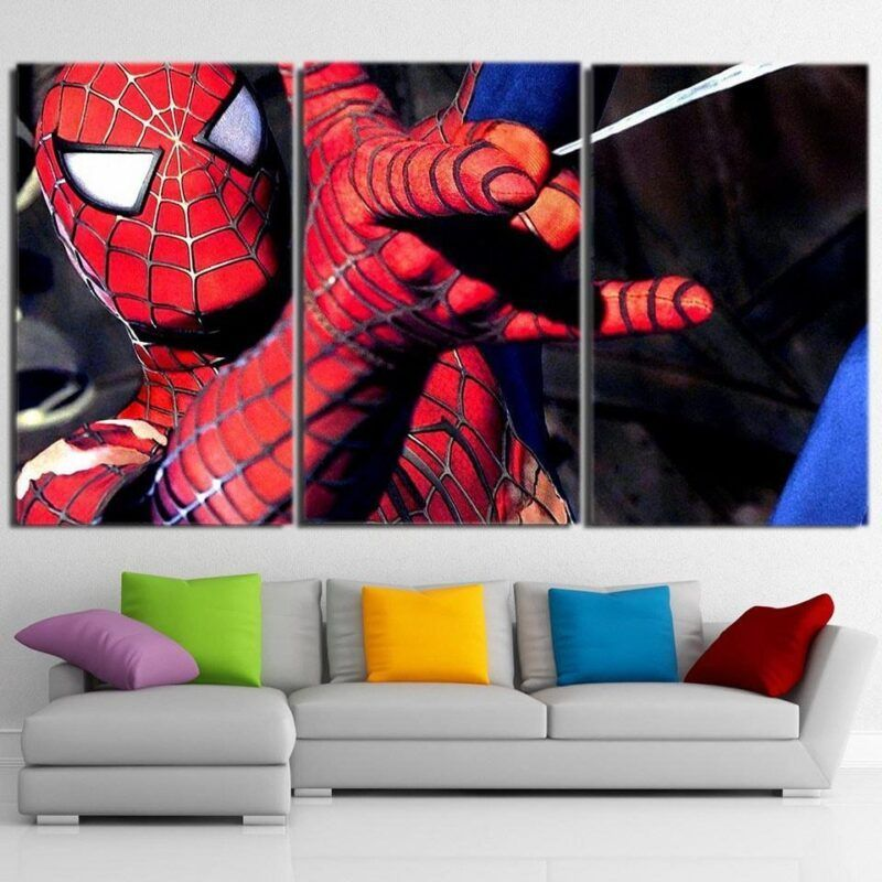 The Spider-Man Ability Style 3pcs Wall Art Canvas Print