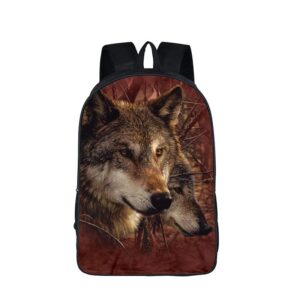 Two Brown Timber Wolves Food Hunting In The Wild Backpack
