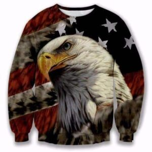USA American Flag Hawk Eagle Classic Trendy 3D Full Print Sweatshirt - Woof Apparel
