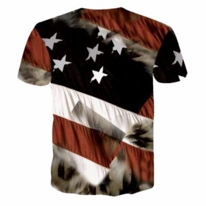 USA American Flag Hawk Eagle Classic Trendy 3D Full Print T-shirt - Woof Apparel