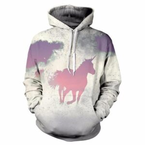 Unicorn Horse Pastel Painting Stain Fashion 3D Pockets Hoodie - Woof Apparel