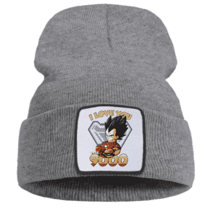 Vegeta I Love You 3000 Iron Man Fan Art Gray Winter Beanie