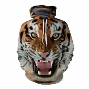 Wild Royal Powerful Magnificent  Fierce Tiger Roar 3D Hoodie - Woof Apparel