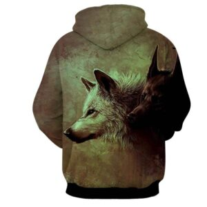 Wolfpack Canine Hunters Wild Animals Territorial Hoodie