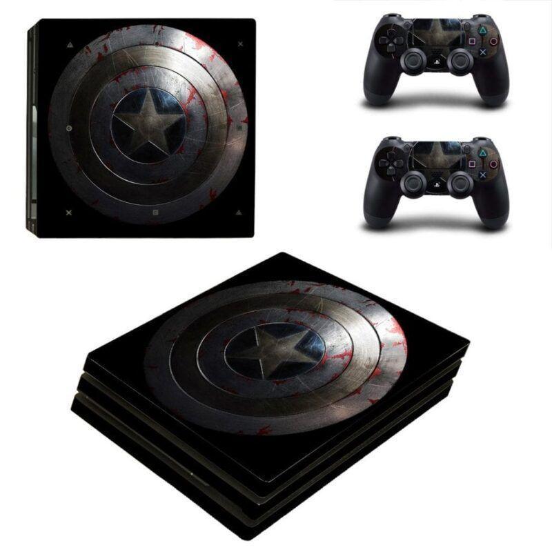 Captain America Vibranium Shield Symbol PS4 Pro Skin