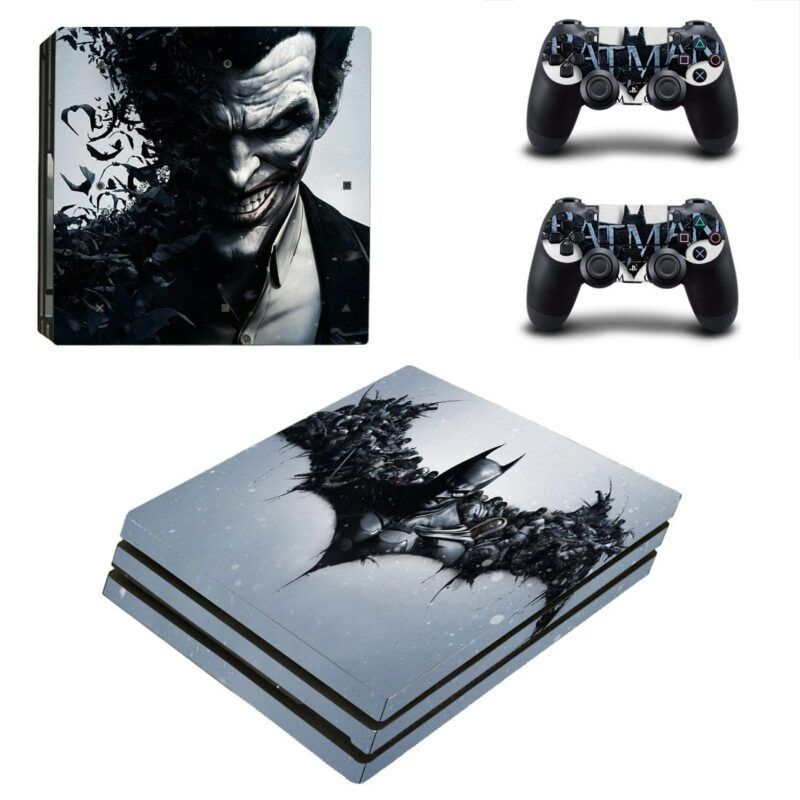 Batman And The Joker Black Theme Cool PS4 Pro Skin