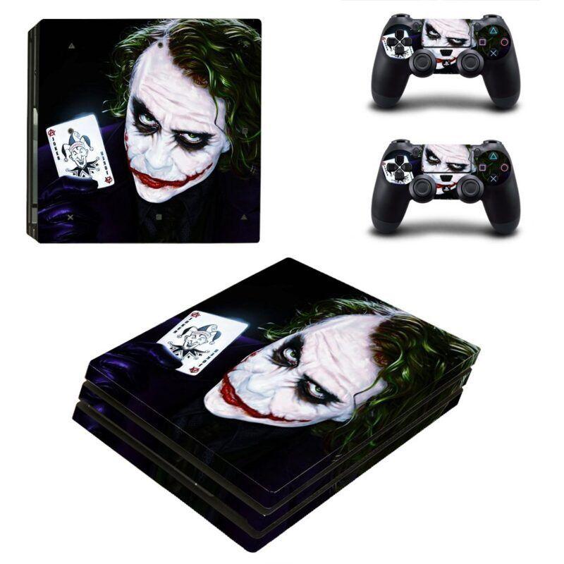 The Joker Heath Ledger Legendary Actor PS4 Pro Skin