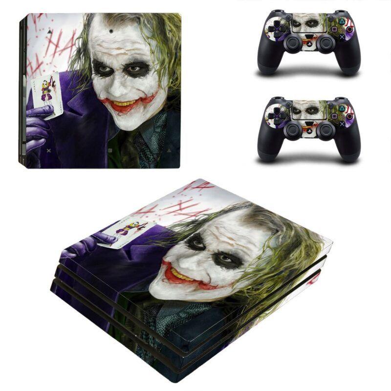 The Joker Heath Ledger Smiling Cool PS4 Pro Skin