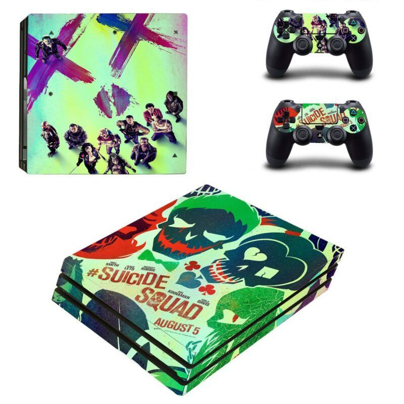 The Suicide Squad Movie Poster Dope PS4 Pro Skin