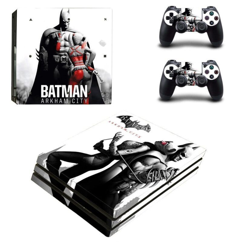 Batman Harley Quinn Arkham City Poster PS4 Pro Skin