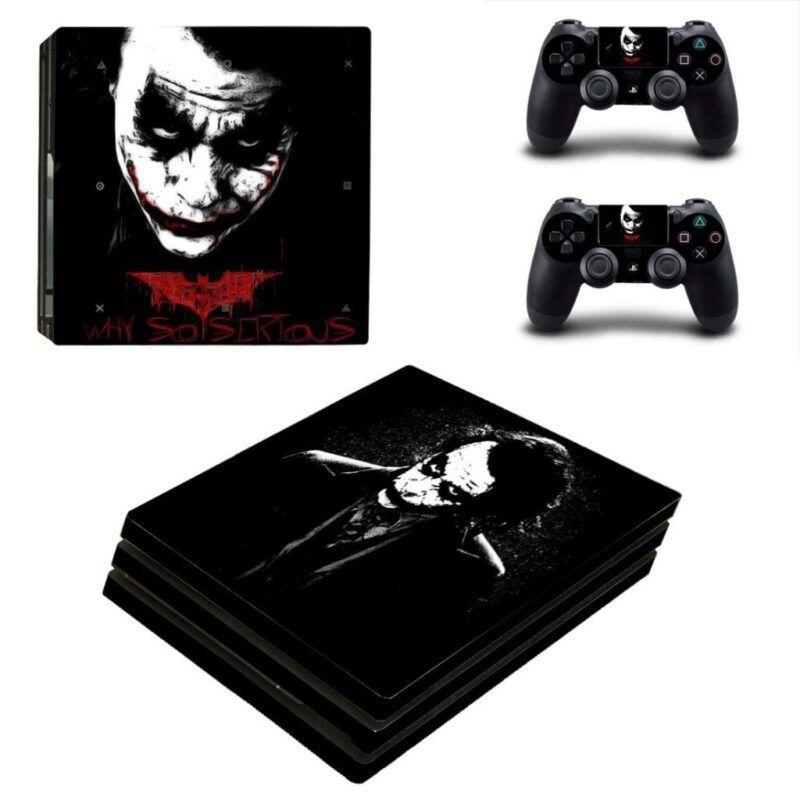 Heath Ledger The Joker Cool Black Portrait PS4 Pro Skin