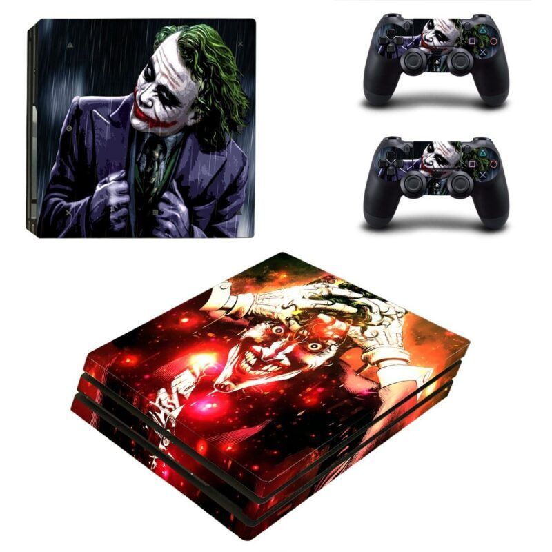 DC Comics The Joker Movie & Cartoon Design Dope PS4 Pro Skin