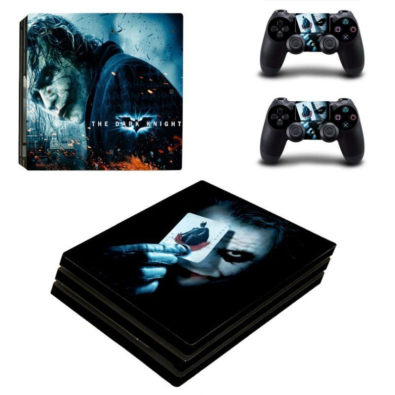 The Joker Villian Hold Card Posture Cool PS4 Pro Decal Skin