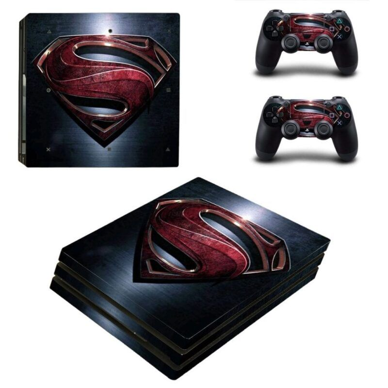 DC Comic Man of Steel Classic Symbol PS4 Pro Skin