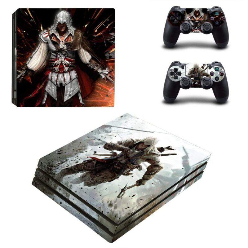 Assassin's Creed Ezio Auditore De Firenze & Connor PS4 Pro Skin