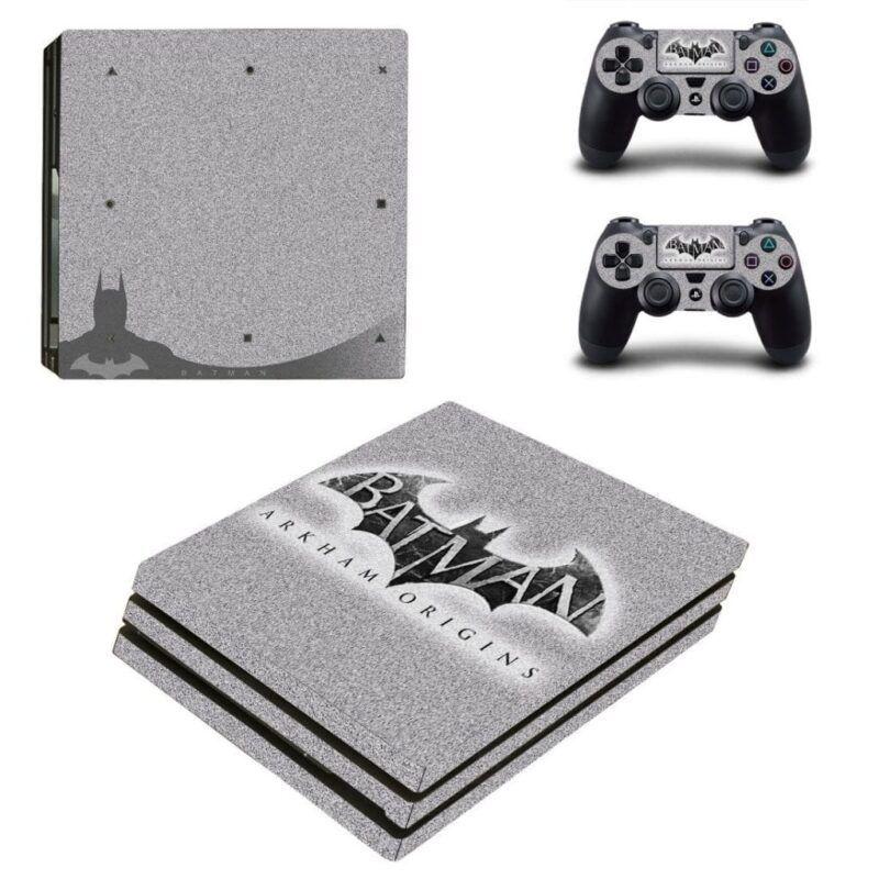 DC Batman Arkham Origins Bat Symbol Gray PS4 Pro Decal Skin
