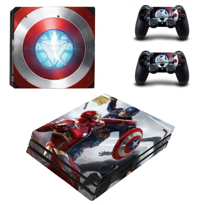 Iron Man Civil War Arc Reactor Design PS4 Pro Skin