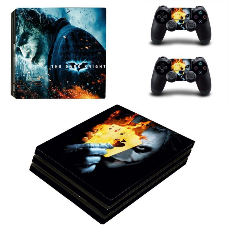 The Joker Playing With Fire Card Cool PS4 Pro Skin