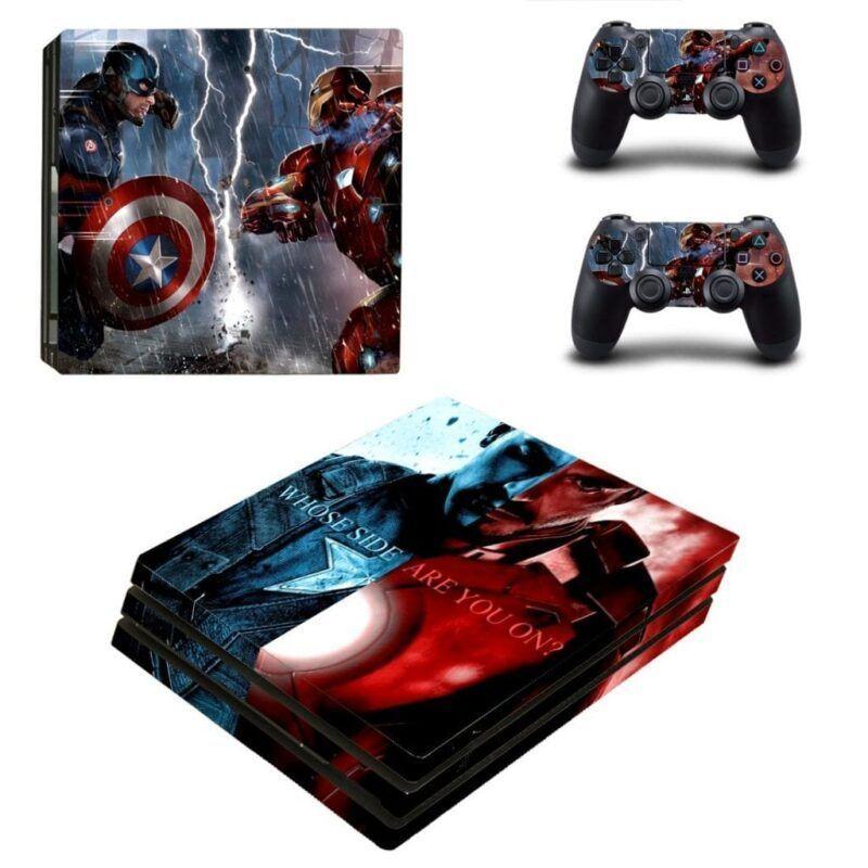Civil War Captain America Vs Iron Man PS4 Pro Skin