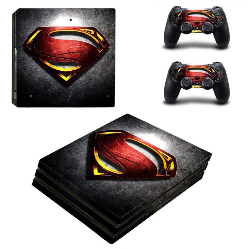 Man of Steel Hero Logo Cool Design PS4 Pro Skin