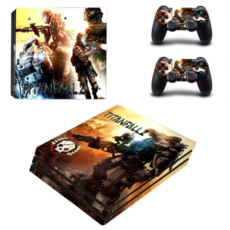 Titanfall 2 Shooter Game Wonderful Banner PS4 Pro Skin