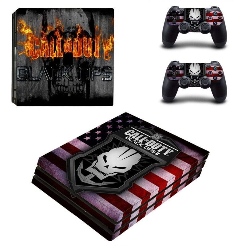 Call Of Duty BO 2 Skull Logo American Flag PS4 Pro Skin