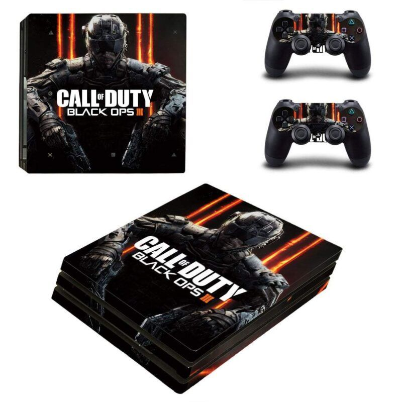 Call Of Duty Black Ops 3 Cyber Soldier Black PS4 Pro Skin