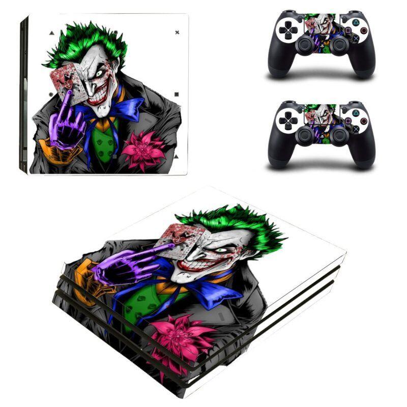 The Joker Playing Card Cartoon Style PS4 Pro Skin