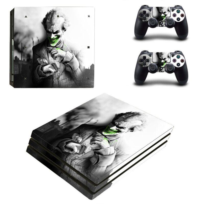 The Joker Suit Up Black Theme Design PS4 Pro Skin