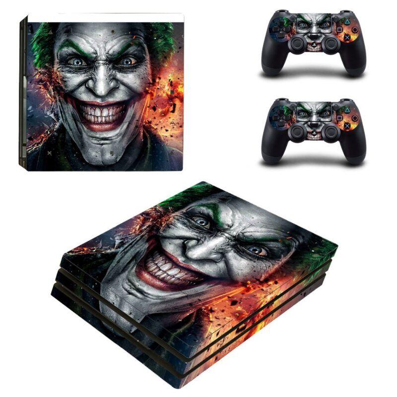 The Joker Villian Smiling Face Design PS4 Pro Skin