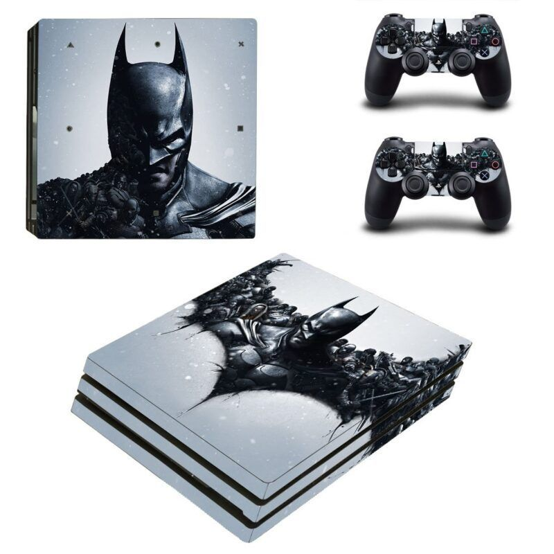 The Dark Knight Awesome Black Theme PS4 Pro Skin