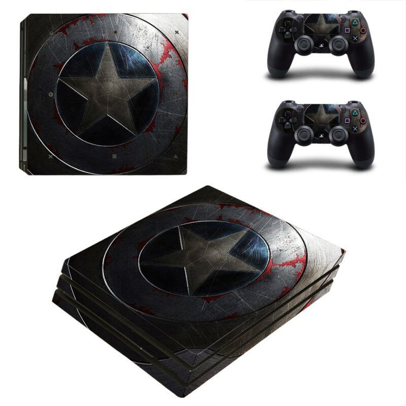 Marvel Captain America Shield With Scratches PS4 Pro Skin