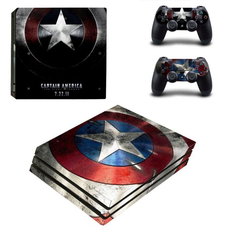 Marvel Captain America The First Avenger Shield PS4 Pro Skin