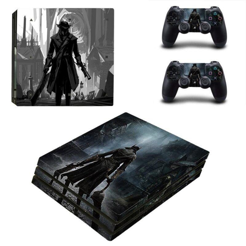 Bloodborne Cool Video Game Black & White PS4 Pro Skin