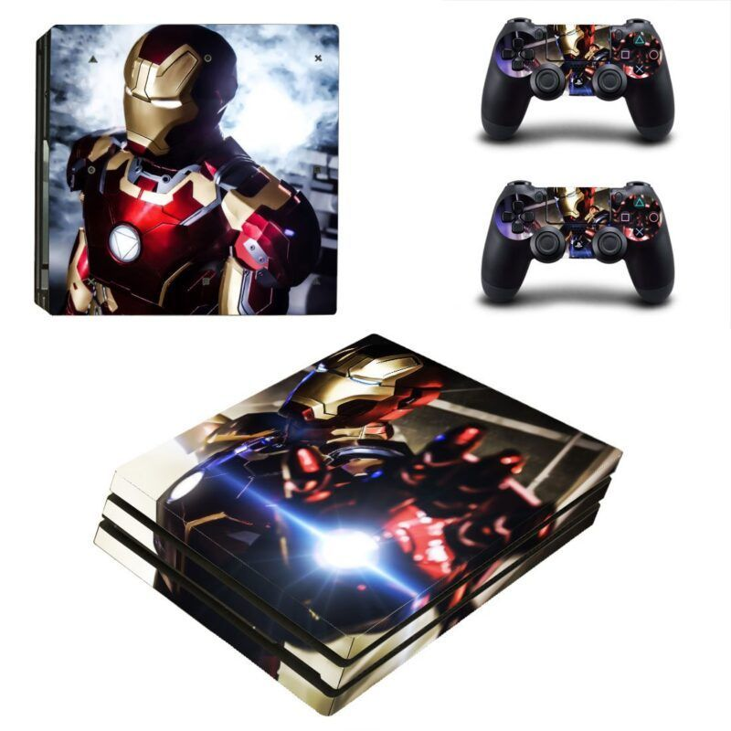 Marvel Dope Iron Man Armor Mark XLIII Red Suit PS4 Pro Skin