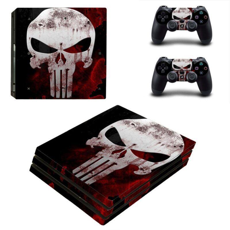 Marvel Punisher Skull Logo Dope Design PS4 Pro Skin