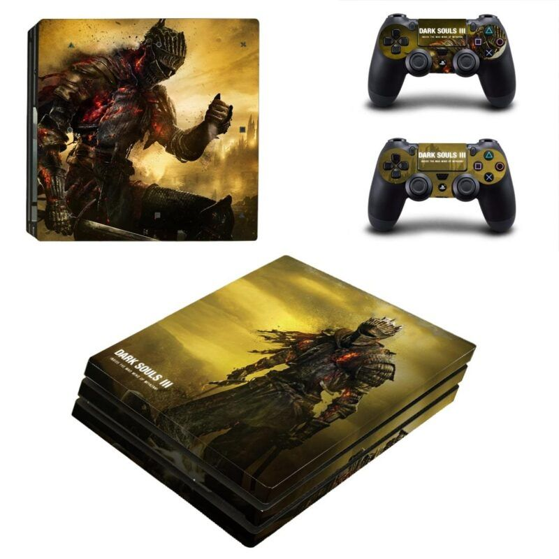 Dark Souls III Fire Wounded Chosen Undead PS4 Pro Skin