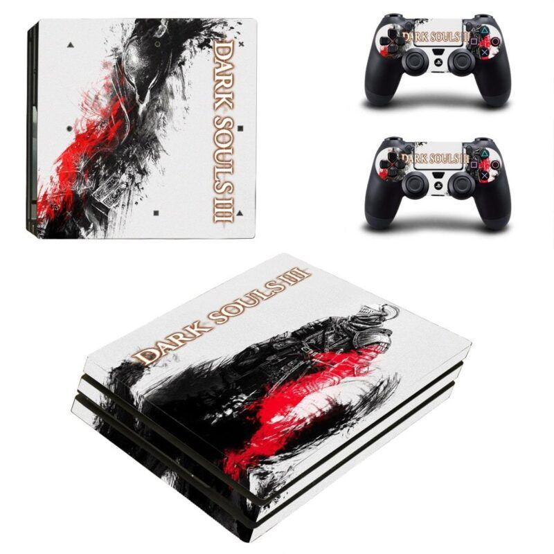 Dark Souls III Dope Chosen Undead Black & White PS4 Pro Skin