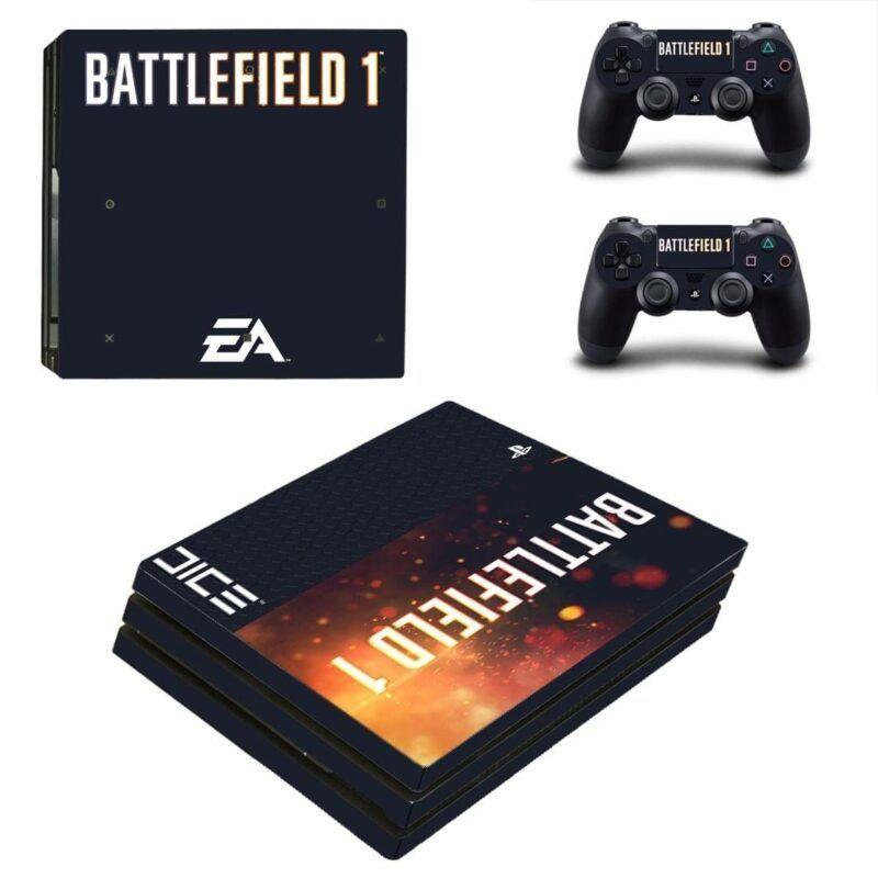 Battlefield 1 Shooter Video Game Unique Design PS4 Pro Skin